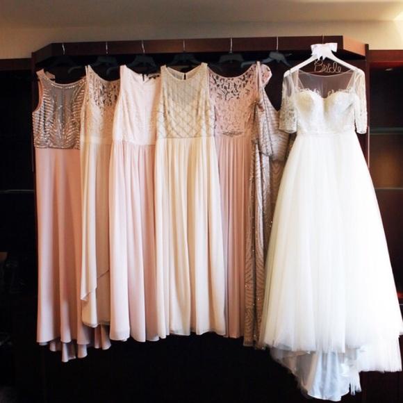Bloomingdale's Blush Colored Bridesmaids Dresses